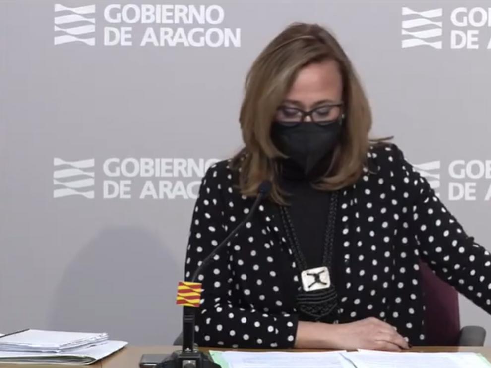Mayte Pérez tras el Consejo de Gobierno