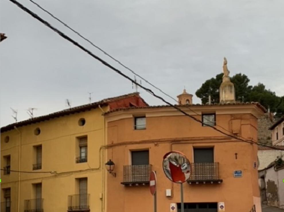 Daños en el mobiliario urbano de Calatayud