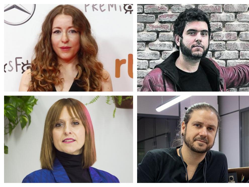 Pilar Palomero, Javier Macipe, Arantxa Ezquerra y Carlos Naya