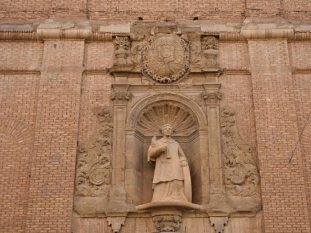 Fachada de la Iglesia de San Vicente el Real de Huesca.