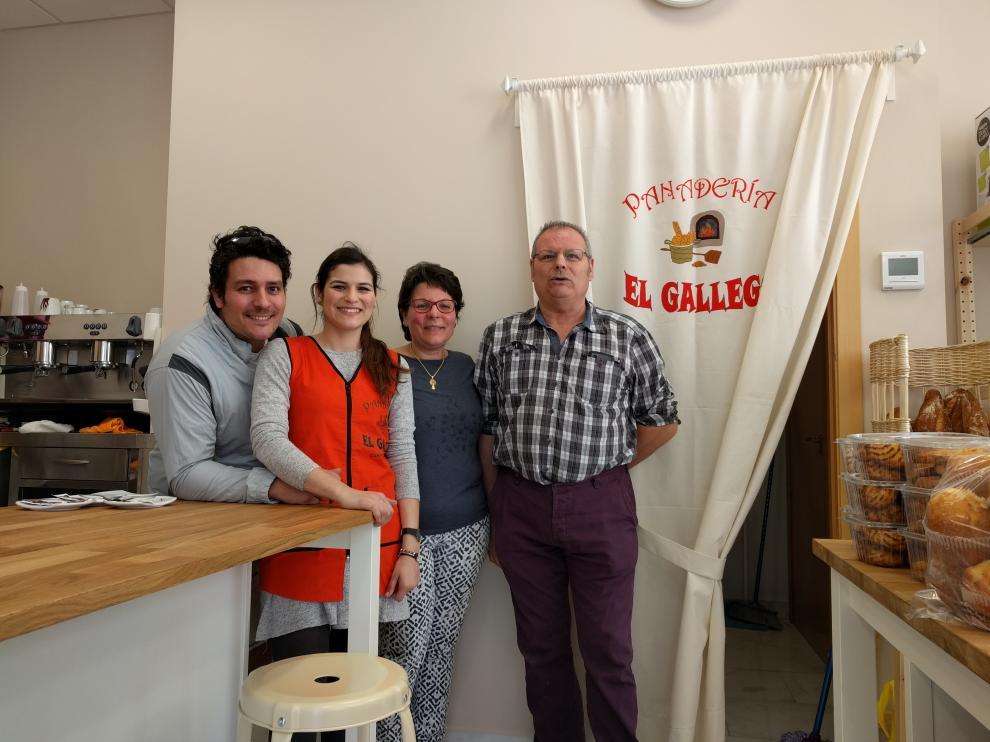 La familia Rial Vidal, en la apertura en 2017 de la tienda de Valdespartera.