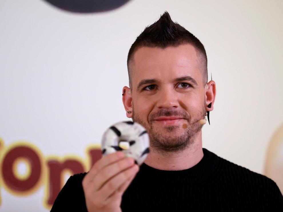 David Muñoz, con su donut.