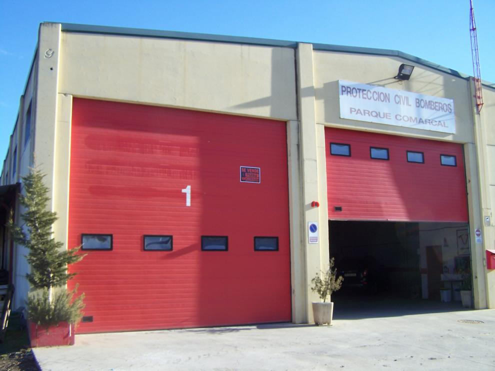 El parque de bomberos de Graus está cerrado desde principio de año tras el traslado de sus efectivos a Benabarre.
