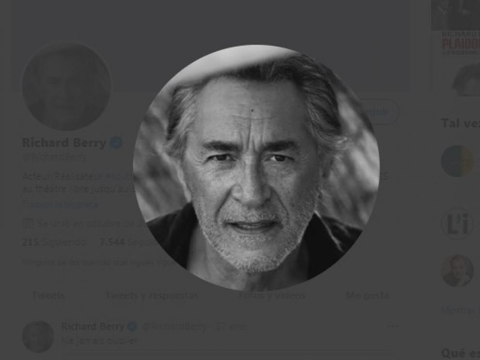 Una imagen del actor Richard Berry, en su cuenta oficial de Twitter.