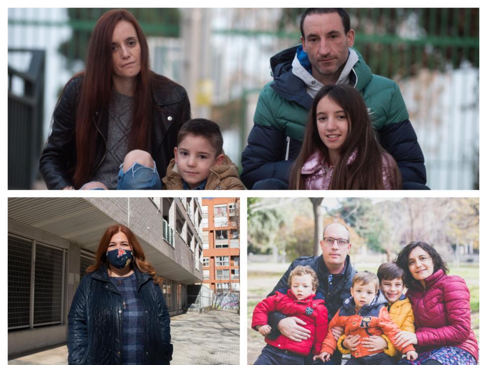 Familias zaragozanas tras un año de pandemia.