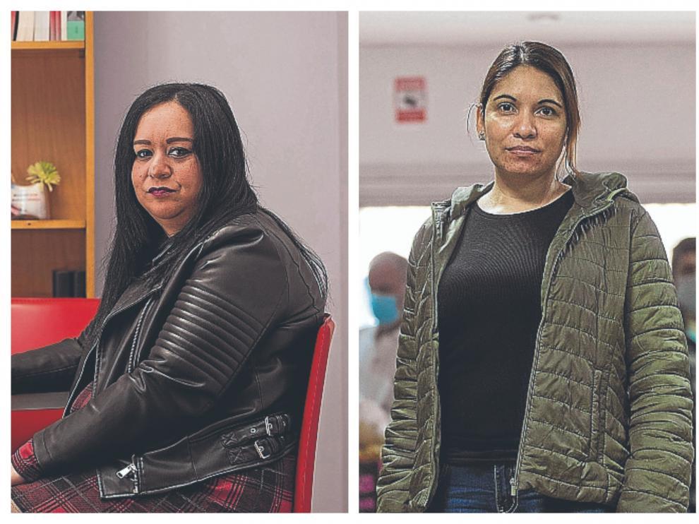 Esther Mendoza y Ángela Altamirano