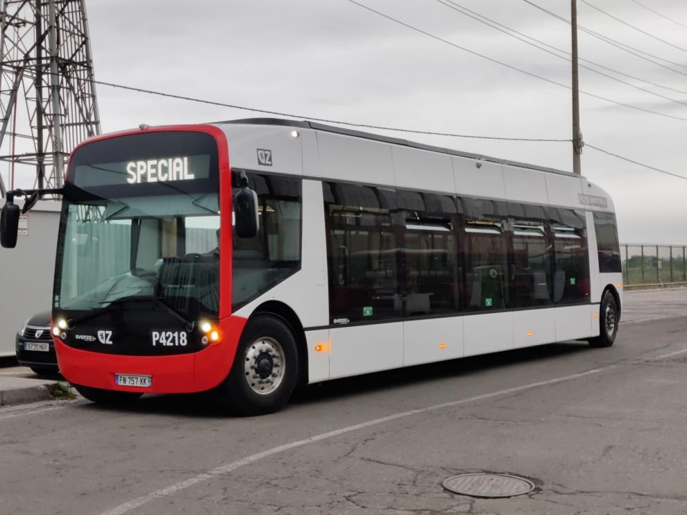 Autobús eléctrico que se empezará a probar en la línea 38