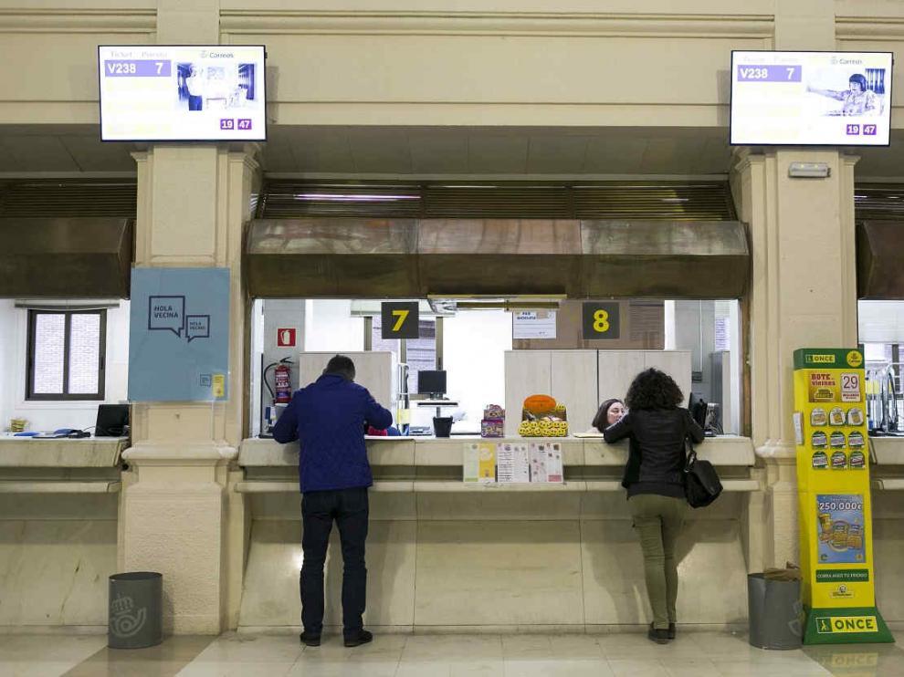 Oficina de Correos del paseo de la Independencia en Zaragoza.