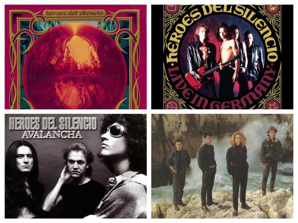 Los discos 'El espíritu del vino', 'Live in Germany', 'Avalancha' y 'El mar no cesa' de Héroes del Silencio