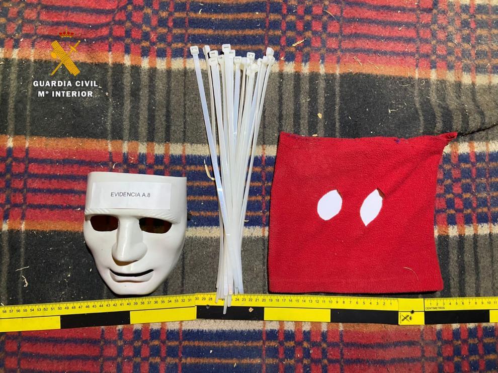 Máscaras del atraco de Cosuenda.