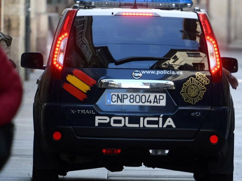 Imagen de un coche de la Policía Nacional en Madrid.