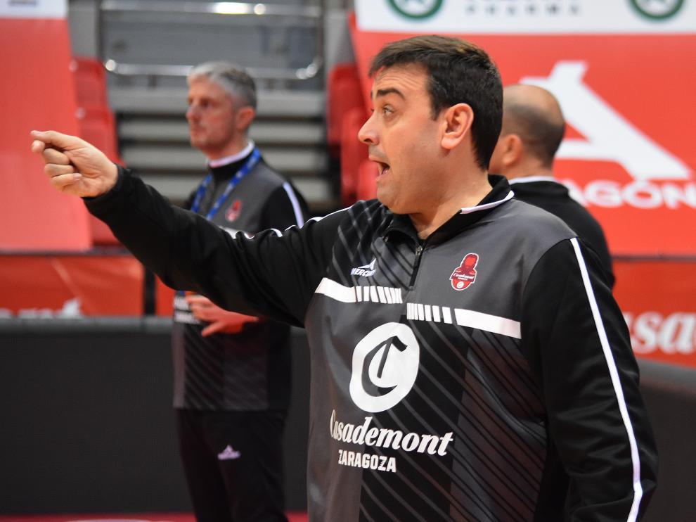 Sergio Lamúa, durante un entrenamiento.