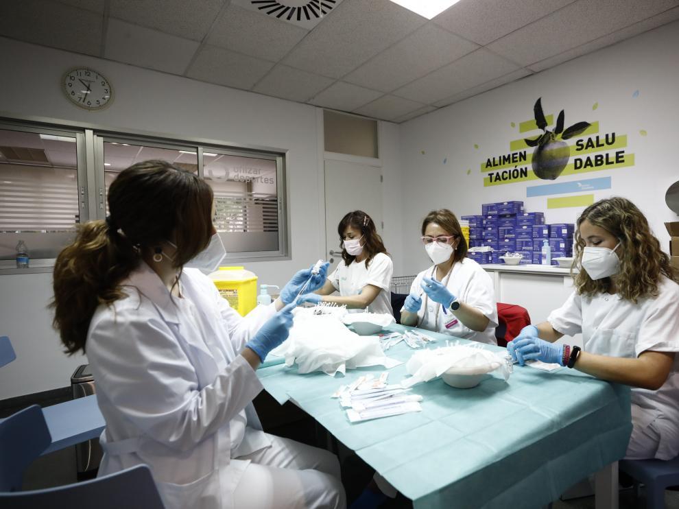 Galería de imágenes de la vacunación de estudiantes en Aragón