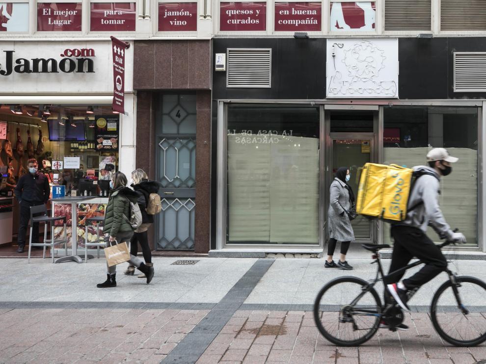 HERALDO .ES. Cierre de establecimientos en Calle Alfonso / 15-02-2021 / FOTO: GUILLERMO MESTRE[[[FOTOGRAFOS]]]