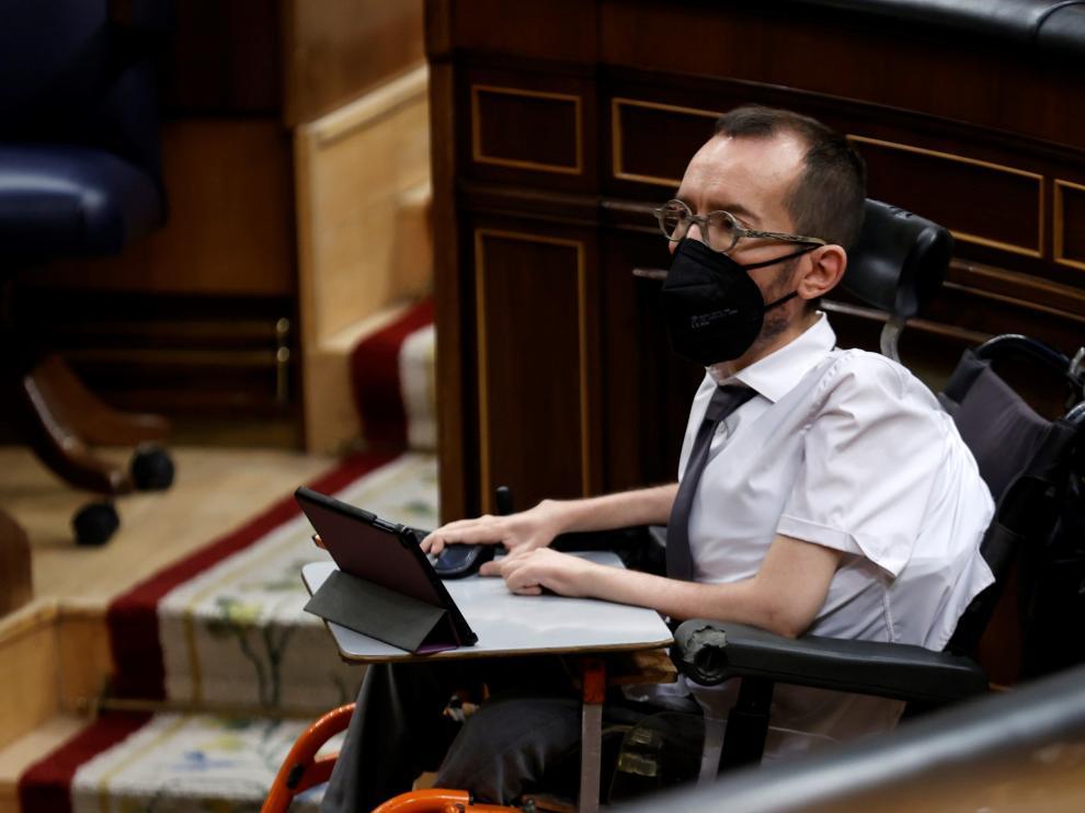 Pablo Echenique, portavoz de Podemos en el Congreso.