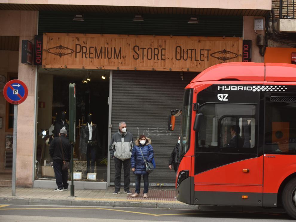 Primeras horas de la huelga del bus en Zaragoza.