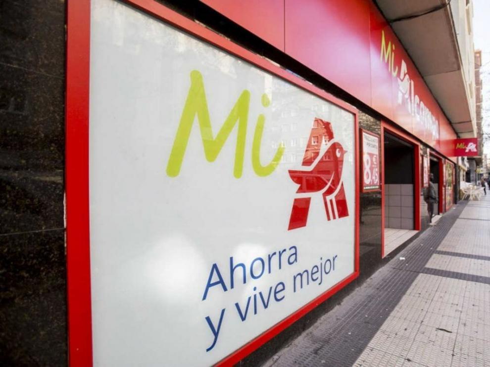 Supermercado Mi Alcampo de Zaragoza.