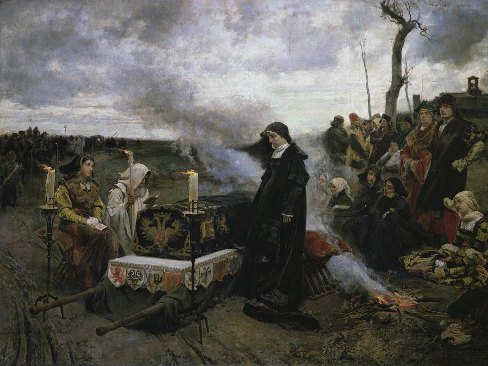 El cuadro que Pradilla dedicó a Doña Juana 'la Loca', unad e sus obras emblemáticas.