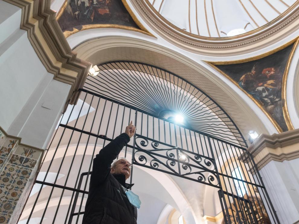Las pechinas pintadas por Goya en Muel son las que están más próximas al visitante. Dese hace casi un año no pueden verse.