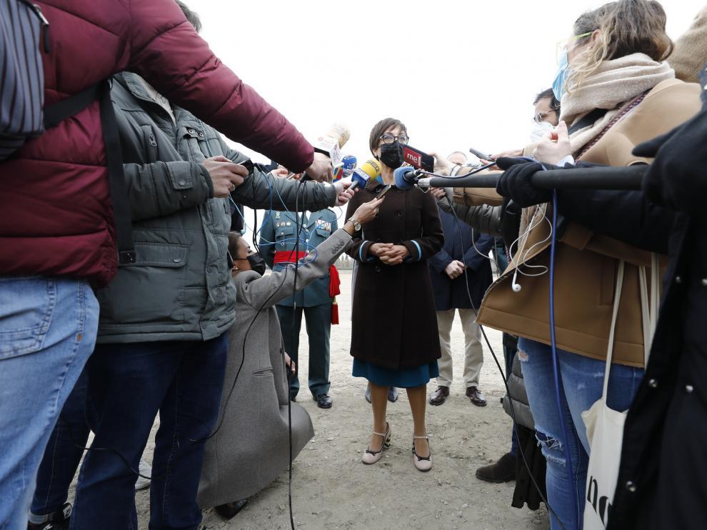 Visita de la directora general de la Benemérita, María Gámez
