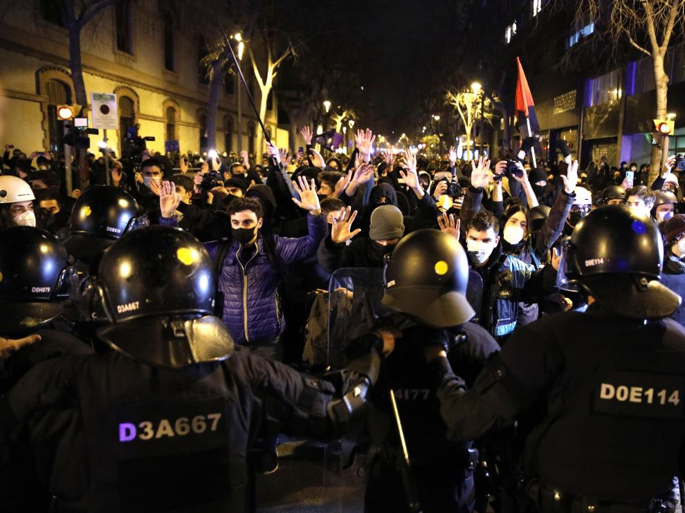 Protesta por Hasel en Barcelona