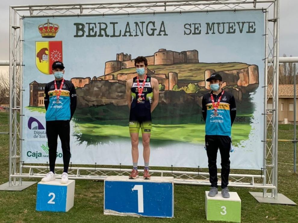 Fernando Zorrilla, en lo más alto del podio en Berlanga de Duero