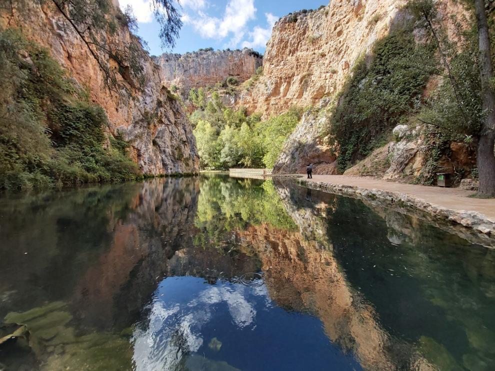 El lago del espejo, uno de los lugares más emblemáticos del Monasterio de Piedra, se vuelve a abrir.