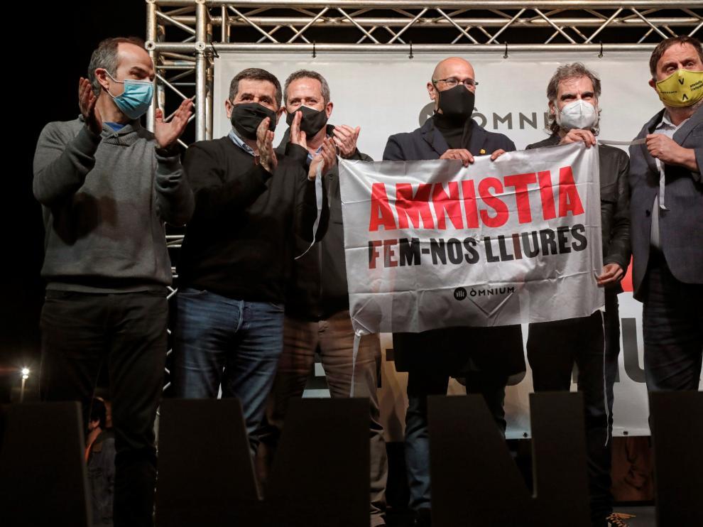 Oriol Junqueras, Jordi Sànchez, Jordi Turull, Joaquim Forn, Raül Romeva y Jordi Cuixar ingresaron este martes en prisión.