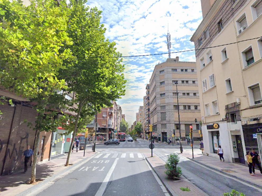 Número 144 de la Avenida Madrid, en Zaragoza.