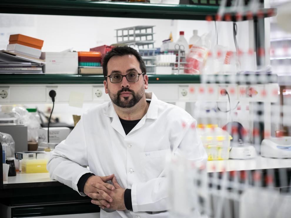 Sergio Villanueva Saz, en la Facultad de Veterinaria.