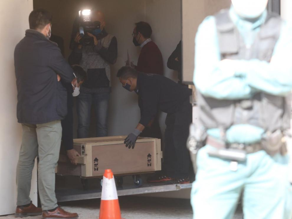 Culmina la entrega de los bienes a Aragón tras 25 años de litigio