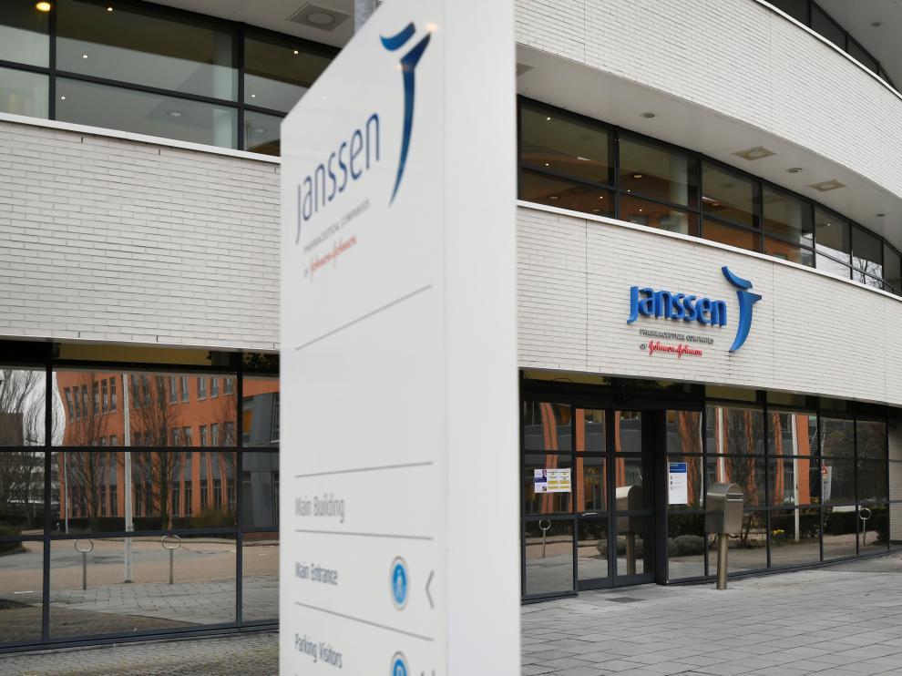 Exterior de la farmacéutica Janssen (Johnson&Johnson) en Leiden (Países Bajos)