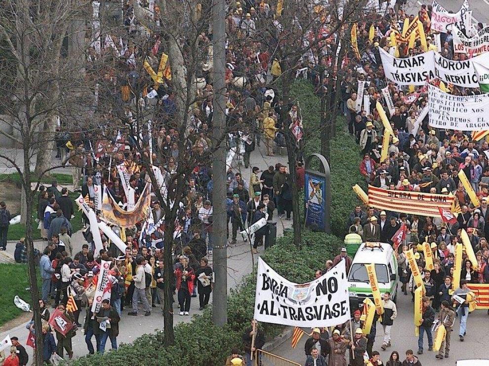 20 años de la gran manifestación en Madrid contra el trasvase del Ebro
