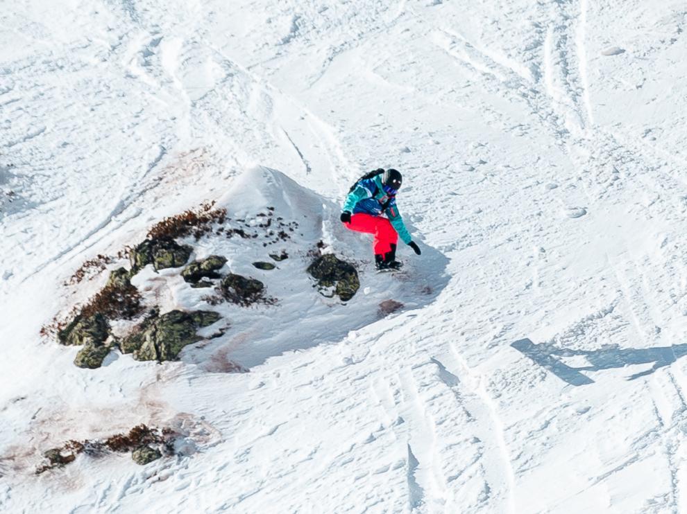Núria Castán, durante uno de sus descensos.