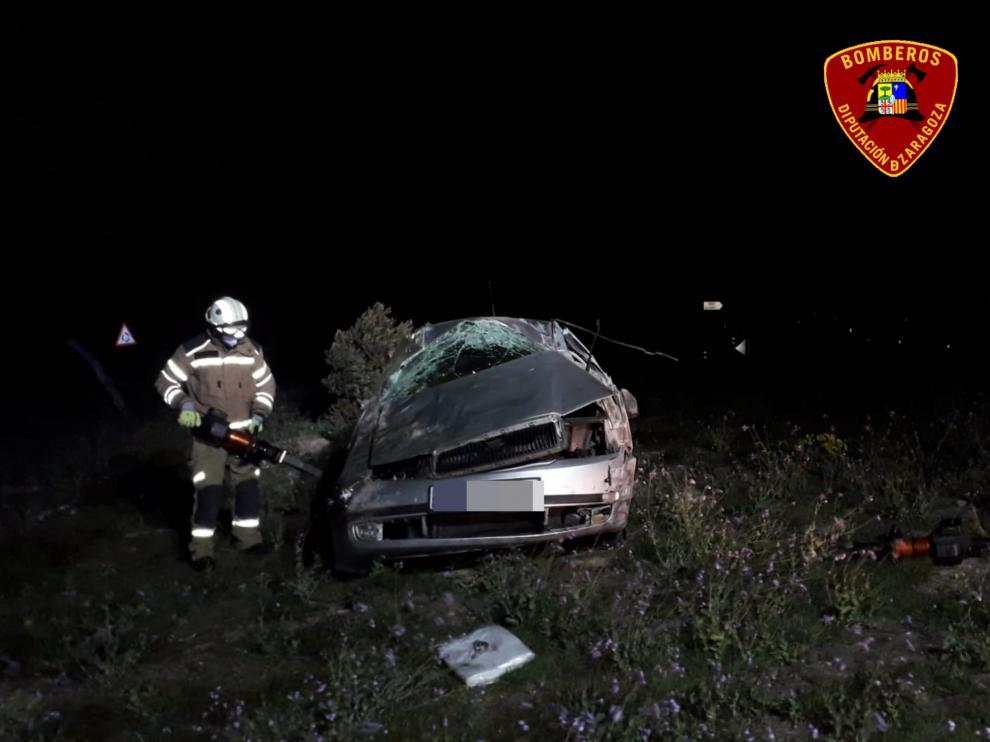 Accidente de tráfico en Fuentes de Ebro.