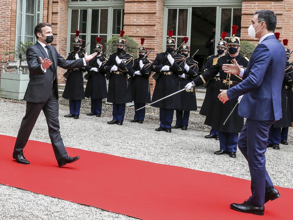 Spain's Prime Minister Pedro Sanchez visits France