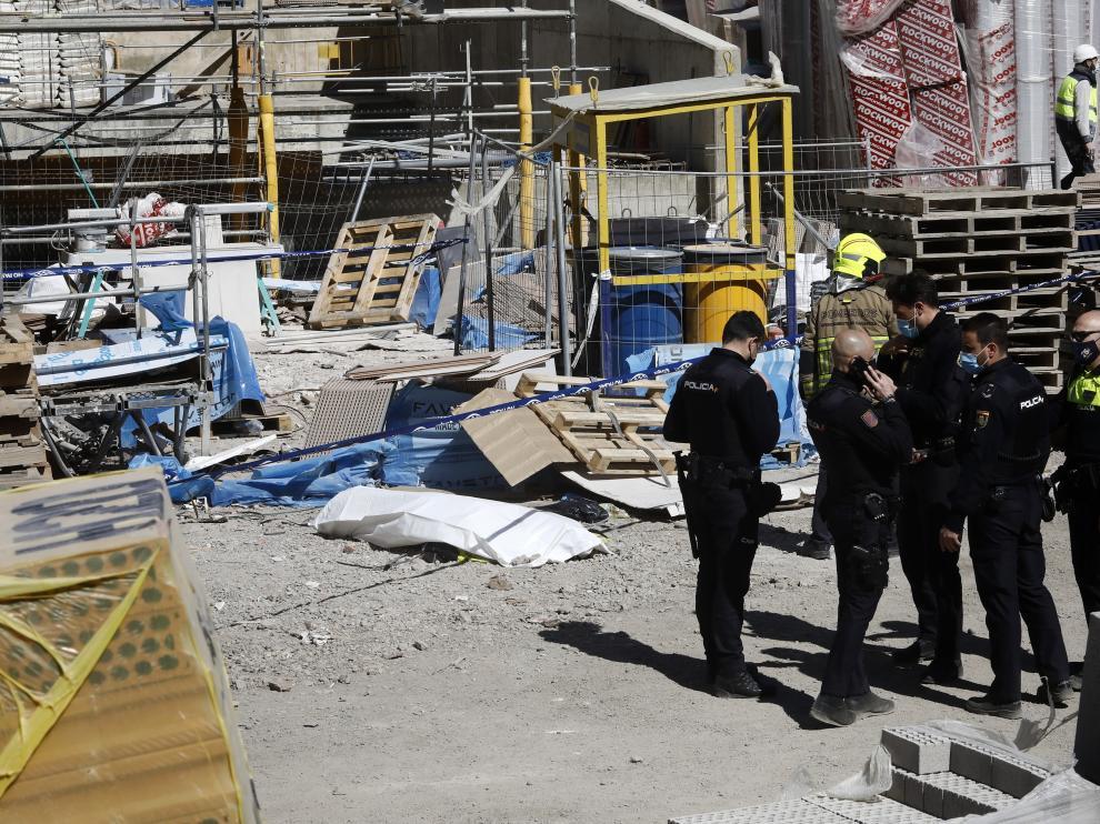 Accidente laboral en las obras de Torre Zaragoza.