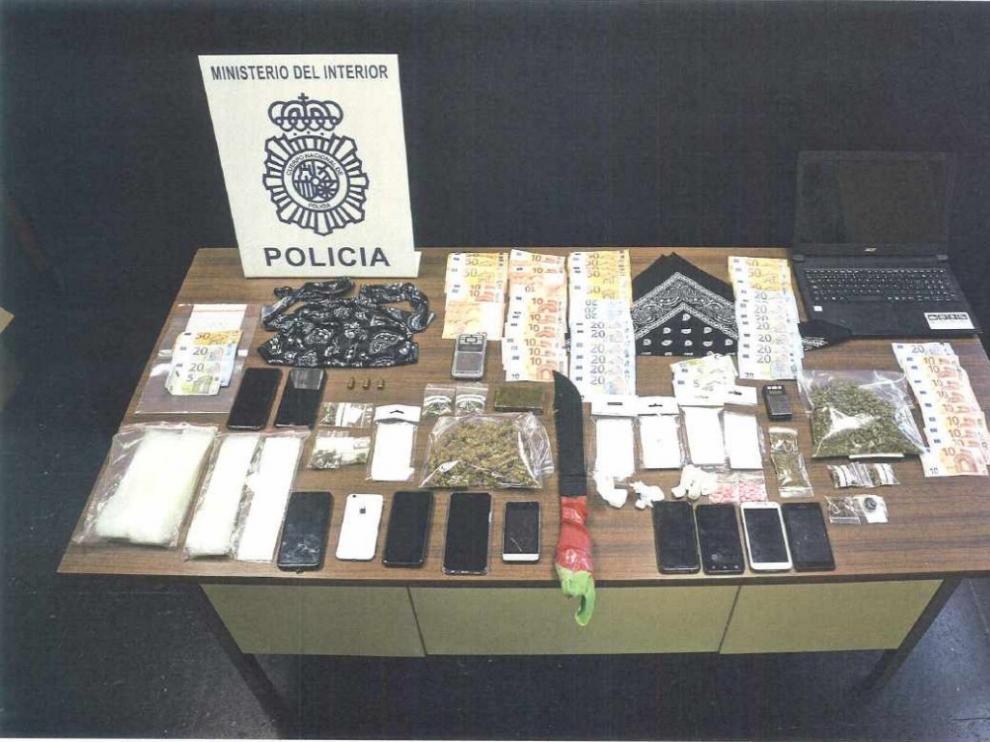 La Policía intervino machetes y droga a la organización durante la operación del pasado 2 de marzo