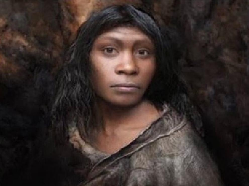 Recreación de la Chica de la Dolina de Atapuerca.
