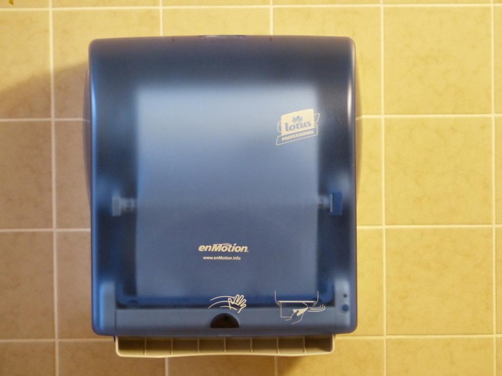 Imagen de archivo de un secador de manos
