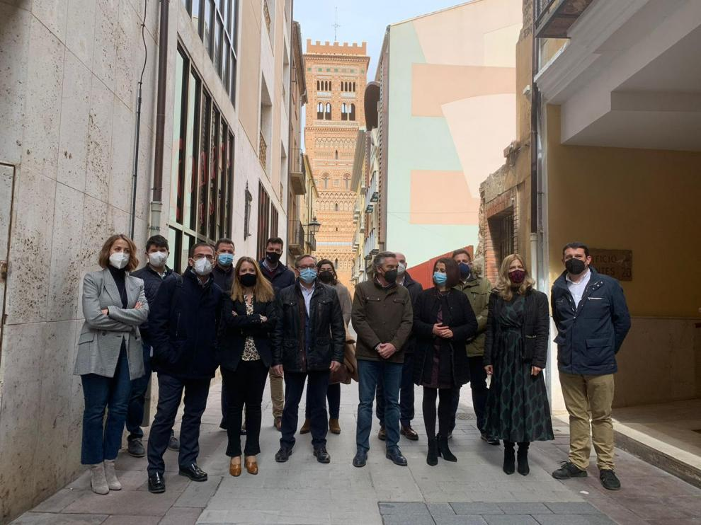 Luis María Beamonte, con el Comité Provincial del PP en Teruel.