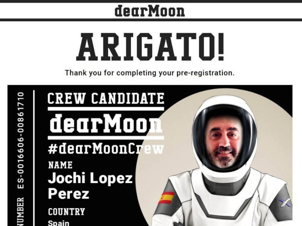 Jose Ángel López, emprendedor aragonés que se ha inscrito para intentar viajar a la Luna.