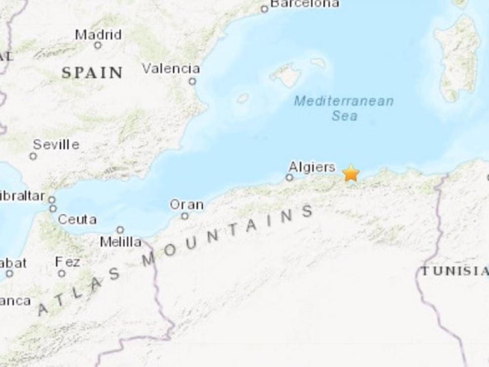 Lugar del terremoto en Argelia