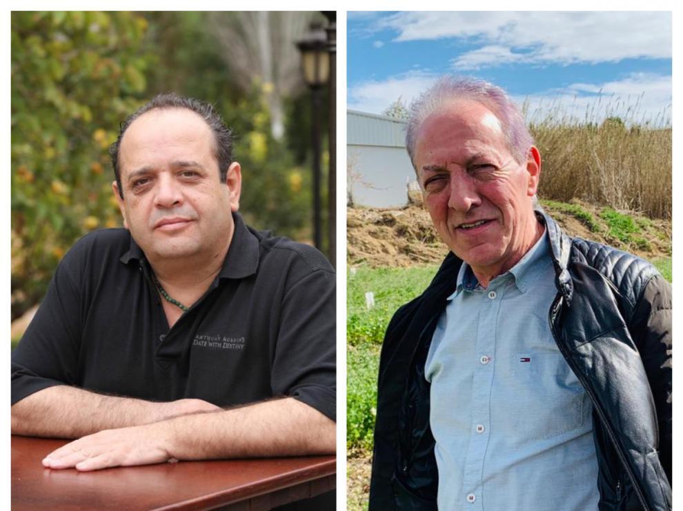 El director general de Cosemar Ozono, Ángel Manuel Sereno, y el presidente de la SAT, Ángel María Miguel García.