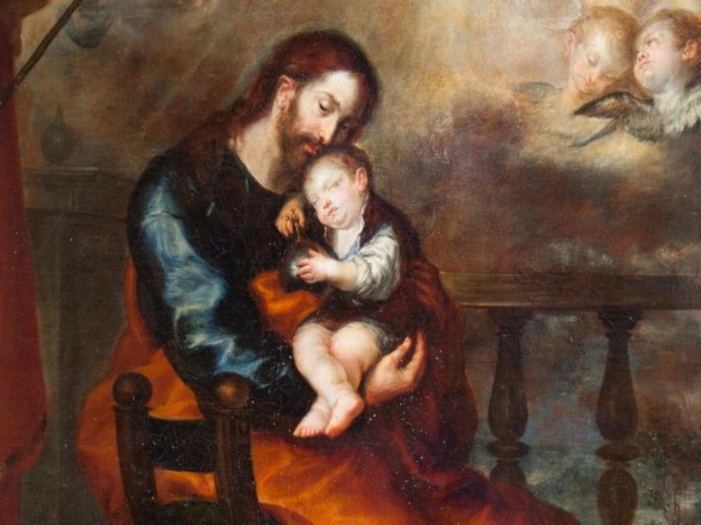 Pintura de San José, obra de Francisco Camilo, expuesta en el Museo del Prado.