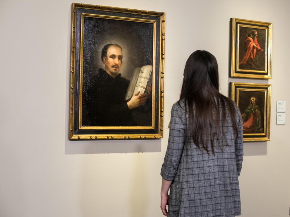 El Museo Goya Colección Ibercaja ha recibido en préstamo un Goya que representa a San Ignacio de Lóyola.
