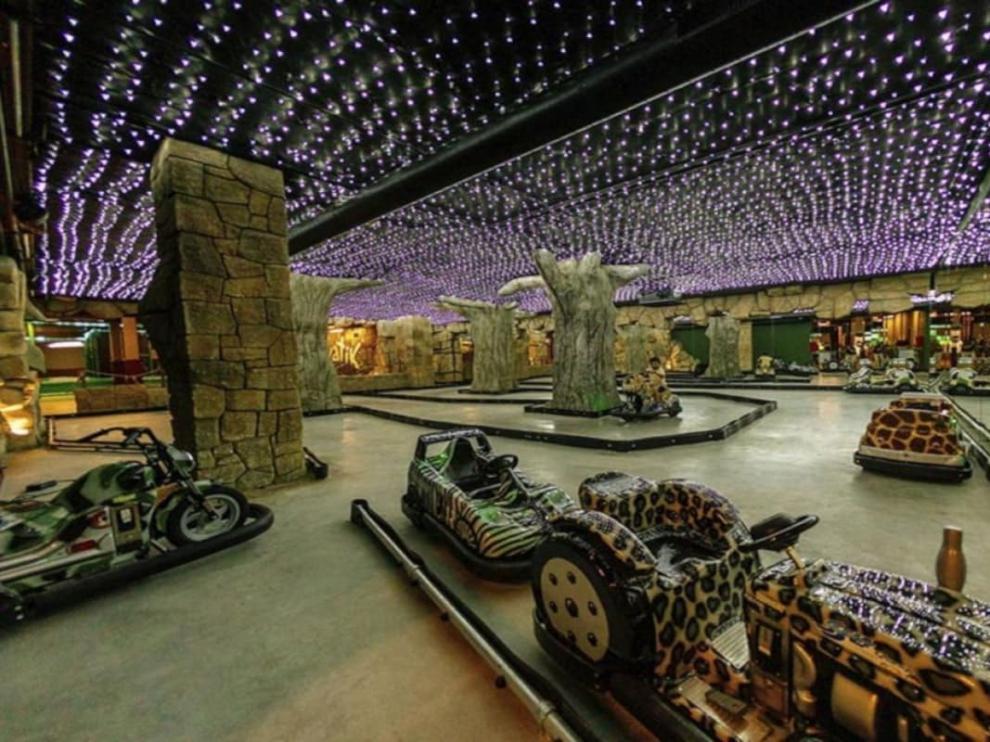 Imagen de una de las zonas de juego de Selvatik en Zaragoza.