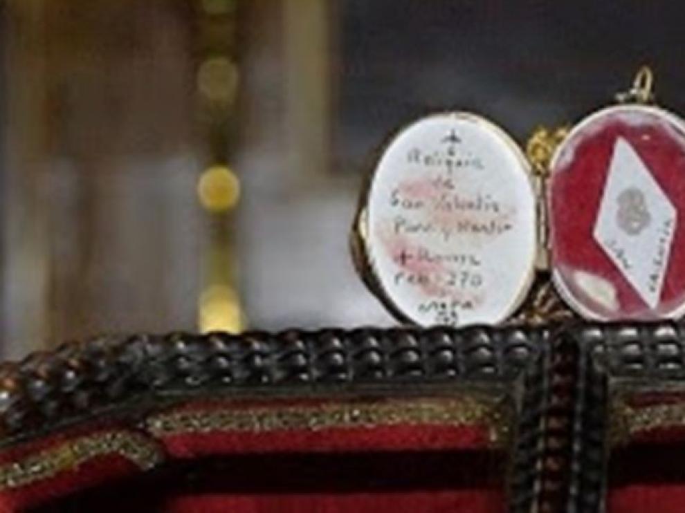 Reliquia que sustrajeron los ladrones.