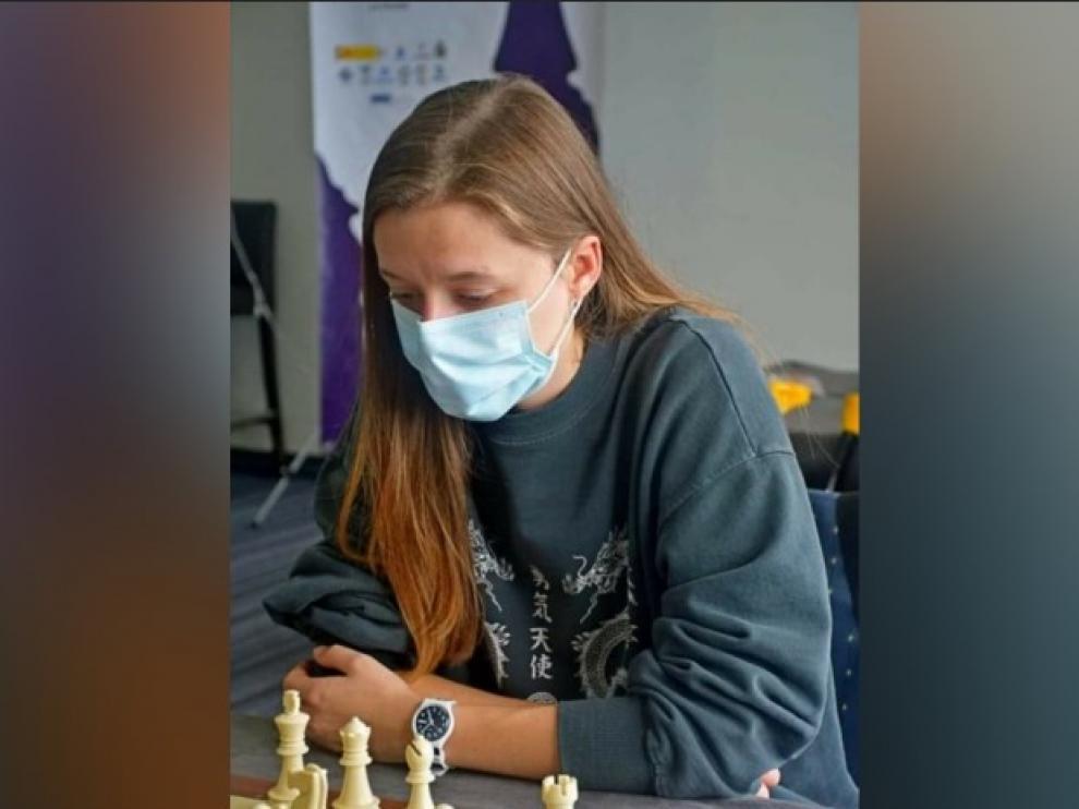 María Eizaguerri durante un torneo reciente.