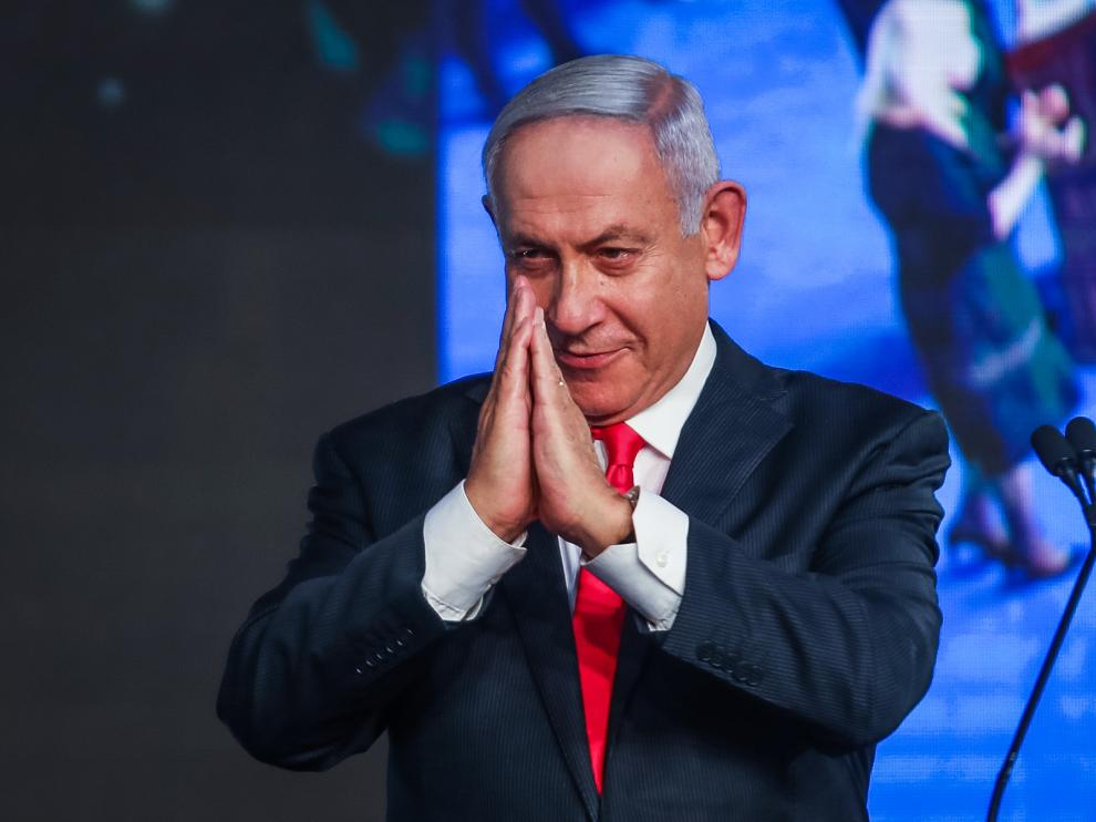 El primer ministro israelí, Benjamin Netanyahu, este miércoles.